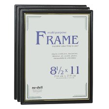Document Plastic Picture Frame (Set of 3)