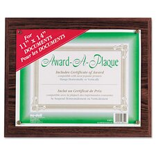 <strong>Nudell Plastics</strong> Award A Plaque Document Holder Picture Frame