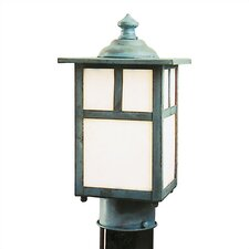 "Mission 1 Light 6"" Outdoor Post Lantern"