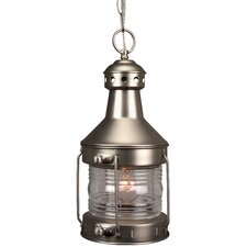 Nautical Brass Large 1 Light Outdoor Hanging Lantern