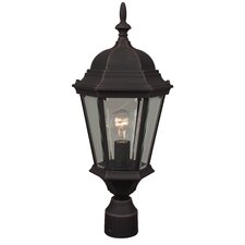"Straight Glass 1 Light 9.5"" Oudoor Post Lantern"
