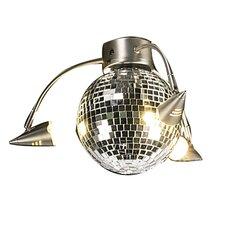3 Light Disco Ball Ceiling Fan Light Kit