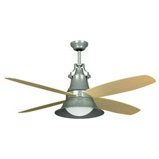 "52"" Union 4 Blade Ceiling Fan with Wall Control and Remote"