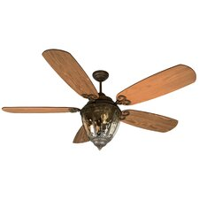 "70"" Olivier 5 Blade Ceiling Fan with Wall Remote"