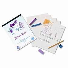 "Multi-Program Picture Story Paper, 0.63"" Long Rule, 500 Sheets/Pack"