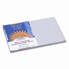 SunWorks Construction Paper, Heavyweight, 12 x 18, Gray, 50 Sheets