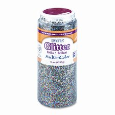 Spectra Plastic Glitter Crystals, .04 Hexagons, 1-lb. Jar, Multicolor