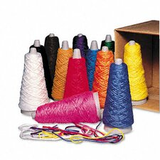 <strong>Pacon Corporation</strong> Trai-Tex Double Weight Yarn Cones, 2-oz., 12 Assorted Color Cones per Carton