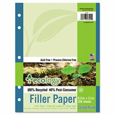Ecology Filler Paper, 16-Lb., 150 Sheets/Pack