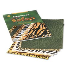 Fadeless Safari Animal Prints Paper, 12 x 18, Six Patterns, 24 Sheets