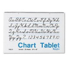 Chart Tablet, Unruled, 24 X 16, 25 Sheets/Pad