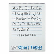 <strong>Pacon Corporation</strong> Chart Tablet with Manuscript Cover, Ruled, 25 Sheets/Pad