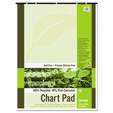 <strong>Pacon Corporation</strong> S.A.V.E Recycled Chart Pad, Unruled