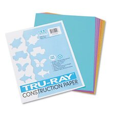 <strong>Pacon Corporation</strong> Tru-Ray Sulphite Construction Paper, 9 x 12, Bright Assortment, 50 Sheets