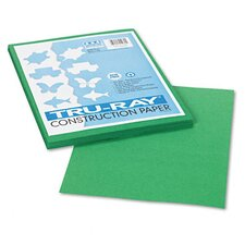Tru-Ray Construction Paper, Sulphite, 9 x 12, Holiday Green, 50 Sheets
