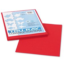Tru-Ray Construction Paper, Sulphite, 9 x 12, Holiday Red, 50 Sheets