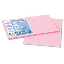 Tru-Ray Construction Paper, Sulphite, 12 x 18, Pink, 50 Sheets