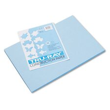 Tru-Ray Construction Paper, 100% Sulphite, 12 x 18, Sky Blue, 50 Sheets