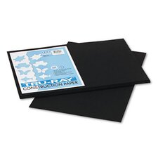 Tru-Ray Construction Paper, 100% Sulphite, 12 x 18, Black, 50 Sheets