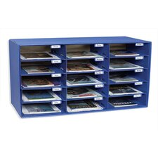 <strong>Pacon Corporation</strong> Mail Box - 15 Mail Slots Blue