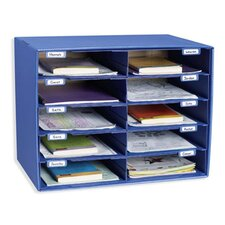 <strong>Pacon Corporation</strong> Mail Box - 10 Mail Slots Blue