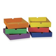 "<strong>Pacon Corporation</strong> Drawers,F/6-Shelf Organizer,12-1/2""x10-1/4""x2-1/4"",Assorted"