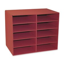 "10-Shelf Organizer, 12-7/8""x21""x17"", Shelves 12-1/2""x10""x3"""