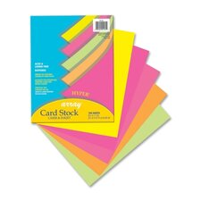 "Card Stock Paper,Hyper,65 lb.,8-/2""x11"",100/PK,Assorted"