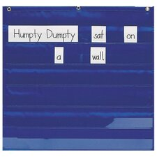 "<strong>Pacon Corporation</strong> Mini Word/Sentence Pocket Strip Pocket Chart, 28""x28"", Blue"