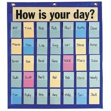 "<strong>Pacon Corporation</strong> Behavioral Pocket Chart,35 Pockets,18-1/2""x21"",Blue"