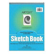 "Sketch Book, Acid-free, Medium Weight, 9""x12"", 30 Sheets"
