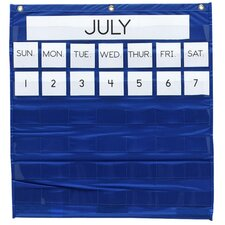 "Monthly Calendar Pocket Chart, 25""x28"", Blue"
