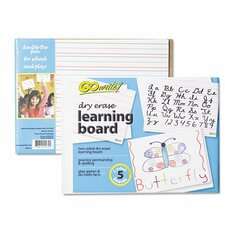 "Dry Erase Learning 8.25"" x 11"" Whiteboard (5 Pack)"