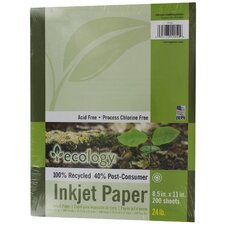 200 Count Ecology Recycled Inkjet Paper