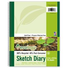 <strong>Pacon Corporation</strong> 70 Sheet Ecology Sketch Diary