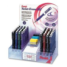 Automatic Pencils, Twist Barrel, Retractable Eraser, 48 per Set , Assorted