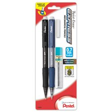 0.7mm Automatic Lead Pencil with Twist Up Eraser (Set of 6)