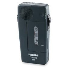 "<strong>Philips Speech Processing</strong> 388 Cassette Mini Dict Recorder, 2-13/32""x1""x5"", Black"