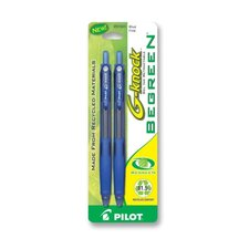 Gel Ink Pen,Retractable,Refillable,Fine Point,2/PK,Blue