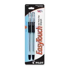 Ballpoint Pen, Refillable, Medium Point, 2/PK, Black