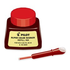 Refill Ink, w/ Dropper, 1 oz., Red