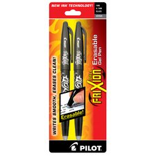 Frixion Erasable Gel Pen in Black (Set of 2)