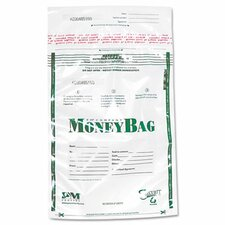 Securit Biodegradable Plastic Money Bags, Tamper Evident, 50/Pack