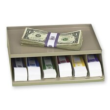 "Coin Wrap or Bill Strap Rack, 9-3/10""x8""x2-3/5"", Pebble Beige"