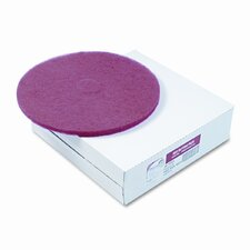 Floor Buffing, Cleaning & Polishing Pads, Red, 5 per Carton