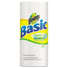 Bounty Basic Paper Towels, 11 x 10 2/5, White, 52 Towels/Roll, 30/Carton