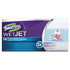 Swifter Wet Jet Refill Pads with Mr Clean Magic Eraser (Pack of 14)