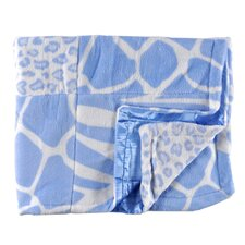 Patchwork Animal Print Baby Blanket