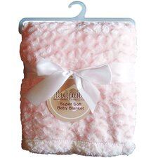 Cheetah Embossed Fur Sherpa Backing Baby Blanket