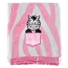 Zebra Print Applique Baby Blanket